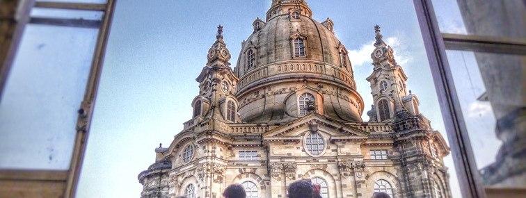 Blick auf die Frauenkirche in Dresden. - BAHNHIT.DE, © Rainer Hillebrand