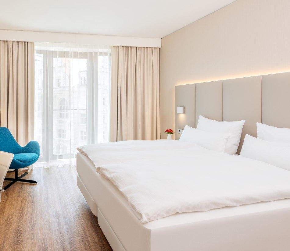 NH Leipzig Zentrum Doppelzimmer - BAHNHIT.DE, © NH Hotels