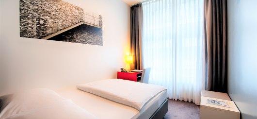 Standard Einzelzimmer, © Novum Management GmbH, Foto: Andreas Rehkopp
