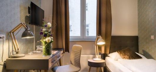Einzelzimmer, © Novum Management GmbH, Foto: Reiner Hausleitner